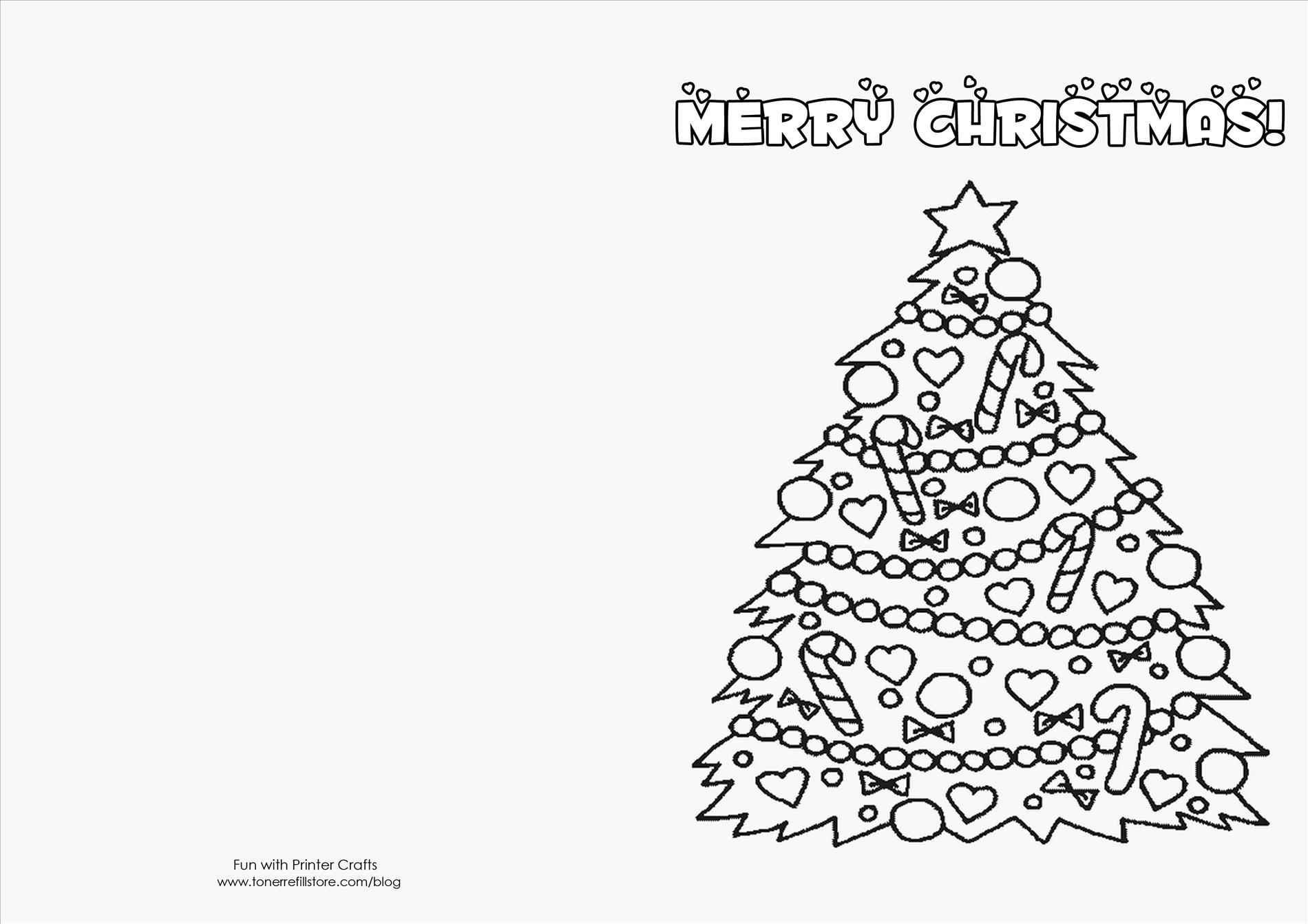 Printable Christmas Cards Templates | Theveliger - Free Printable Christmas Cards To Color