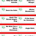 Printable Christmas Carol Game Cards For Pictionary Or   Free Printable Christmas Pictionary Words