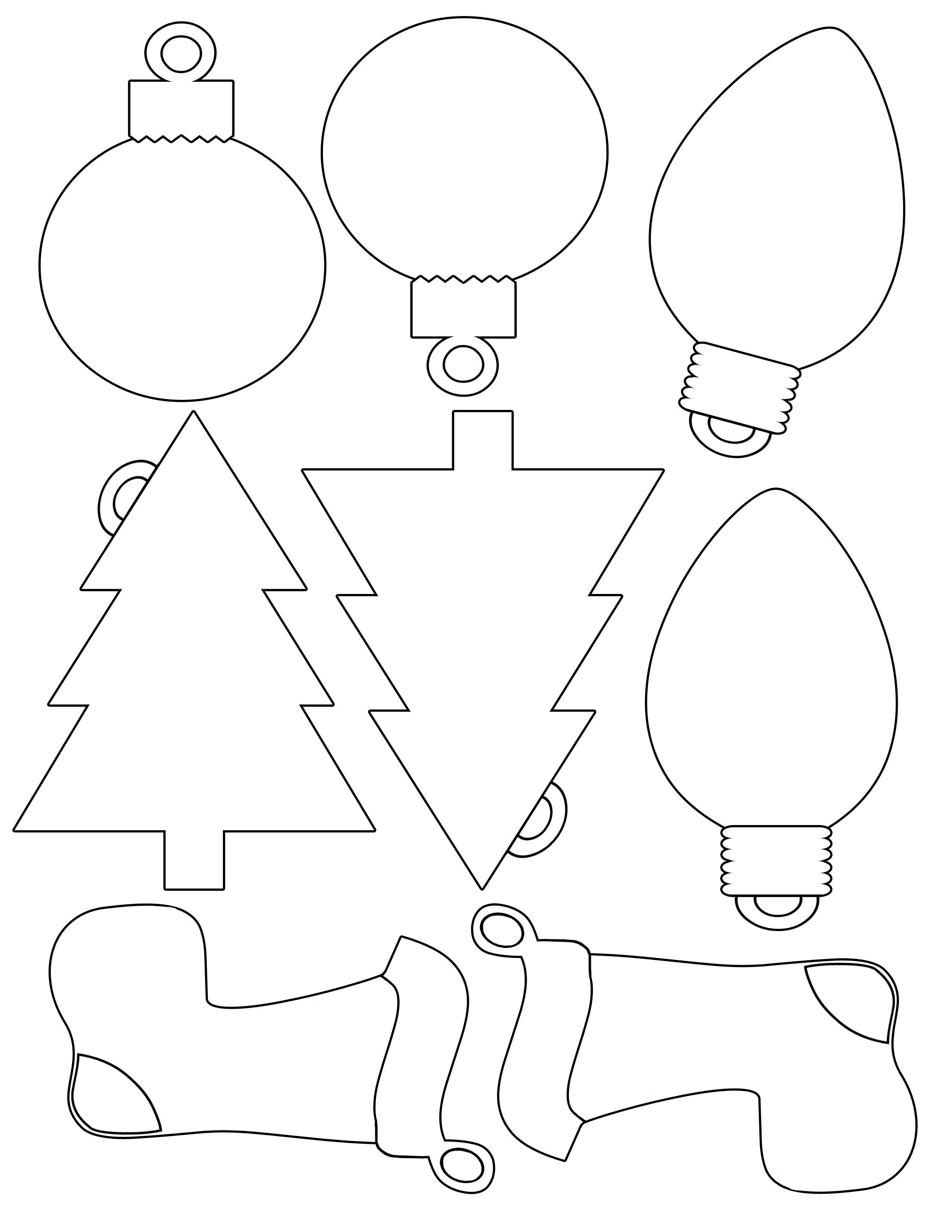 Printable Christmas Envelope |  For Christmas Shapes For Gift - Free Printable Felt Christmas Ornament Patterns