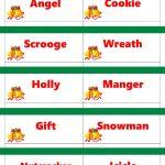 Printable Christmas Game Cards For Pictionary Or Charades, Hangman   Free Printable Christmas Pictionary Words
