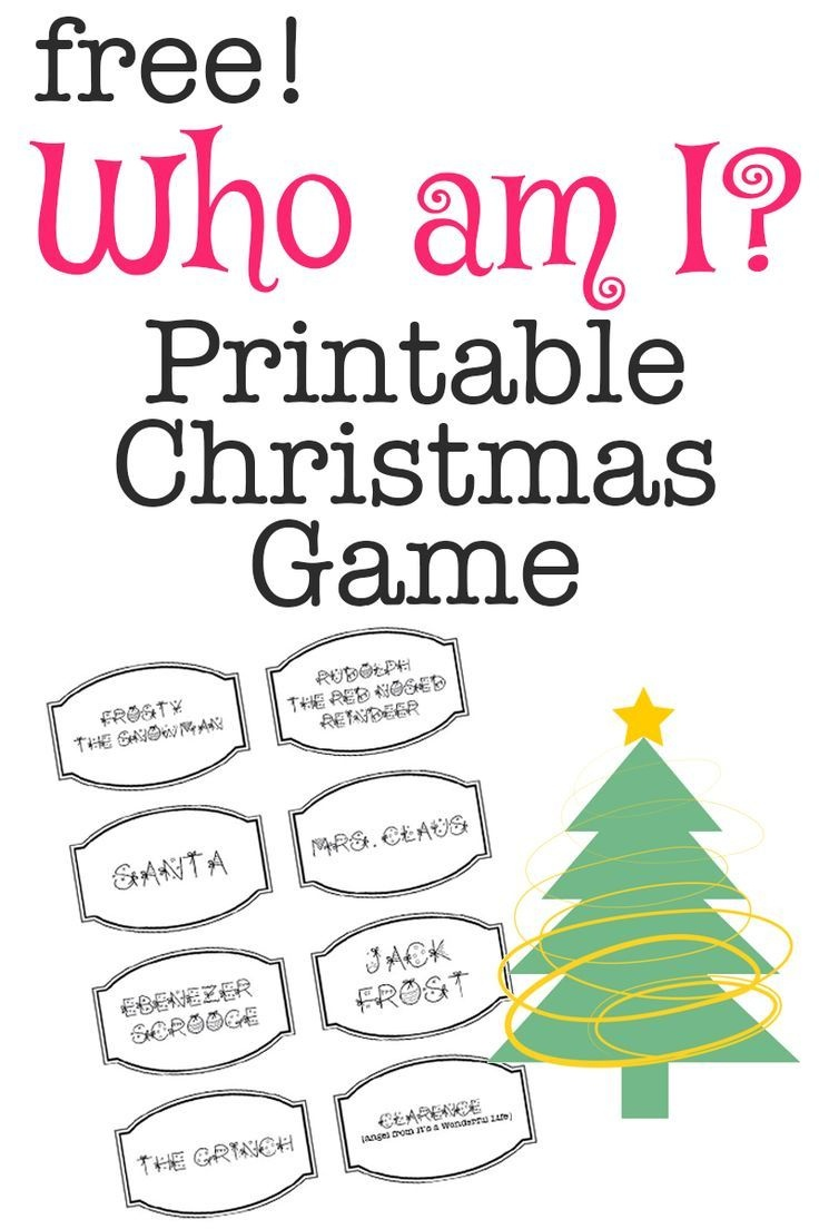 Printable Christmas Game: Who Am I? | Bloggers' Best Diy Ideas - Free Games For Christmas That Is Printable