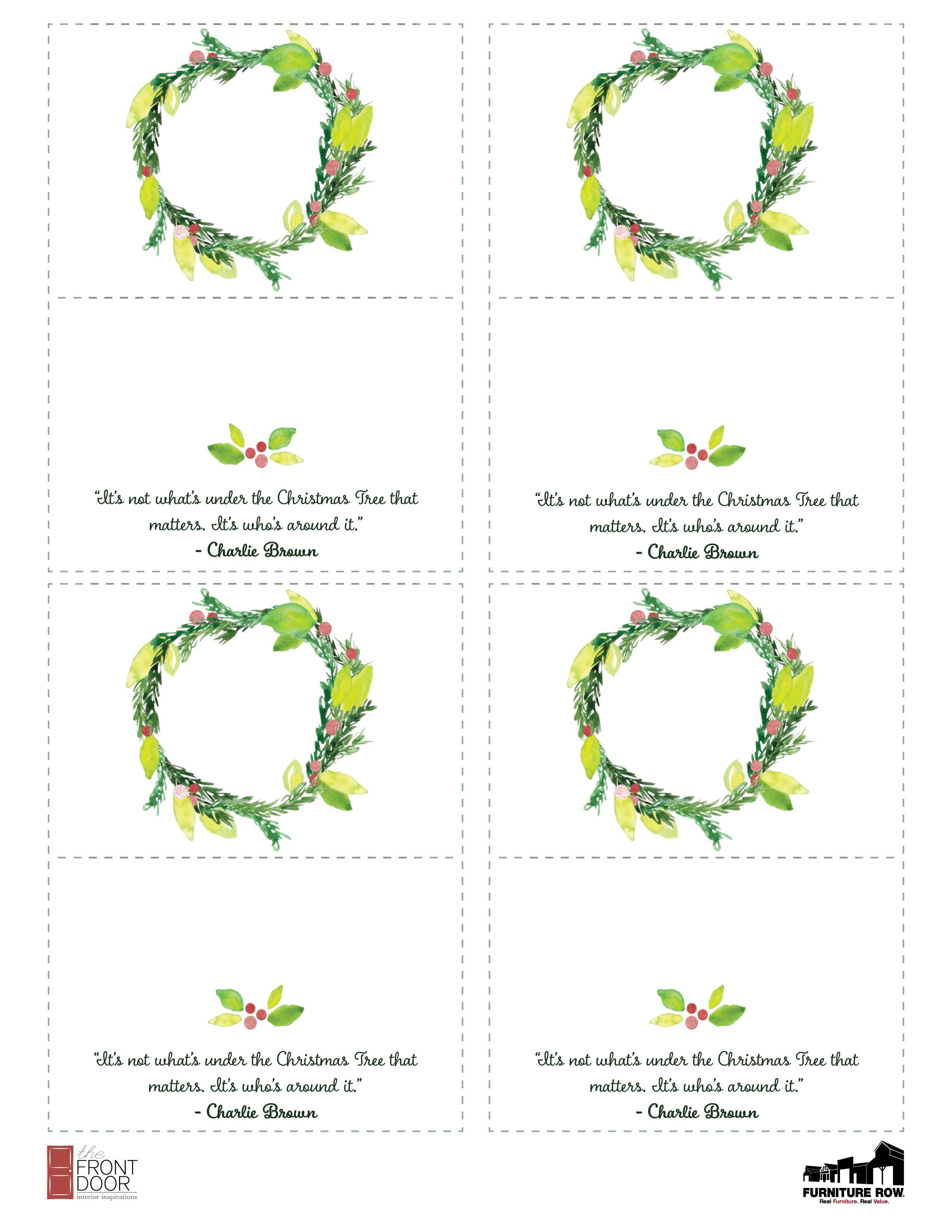 Printable Christmas Place Name Cards For The Table - The Front Door - Christmas Table Name Cards Free Printable