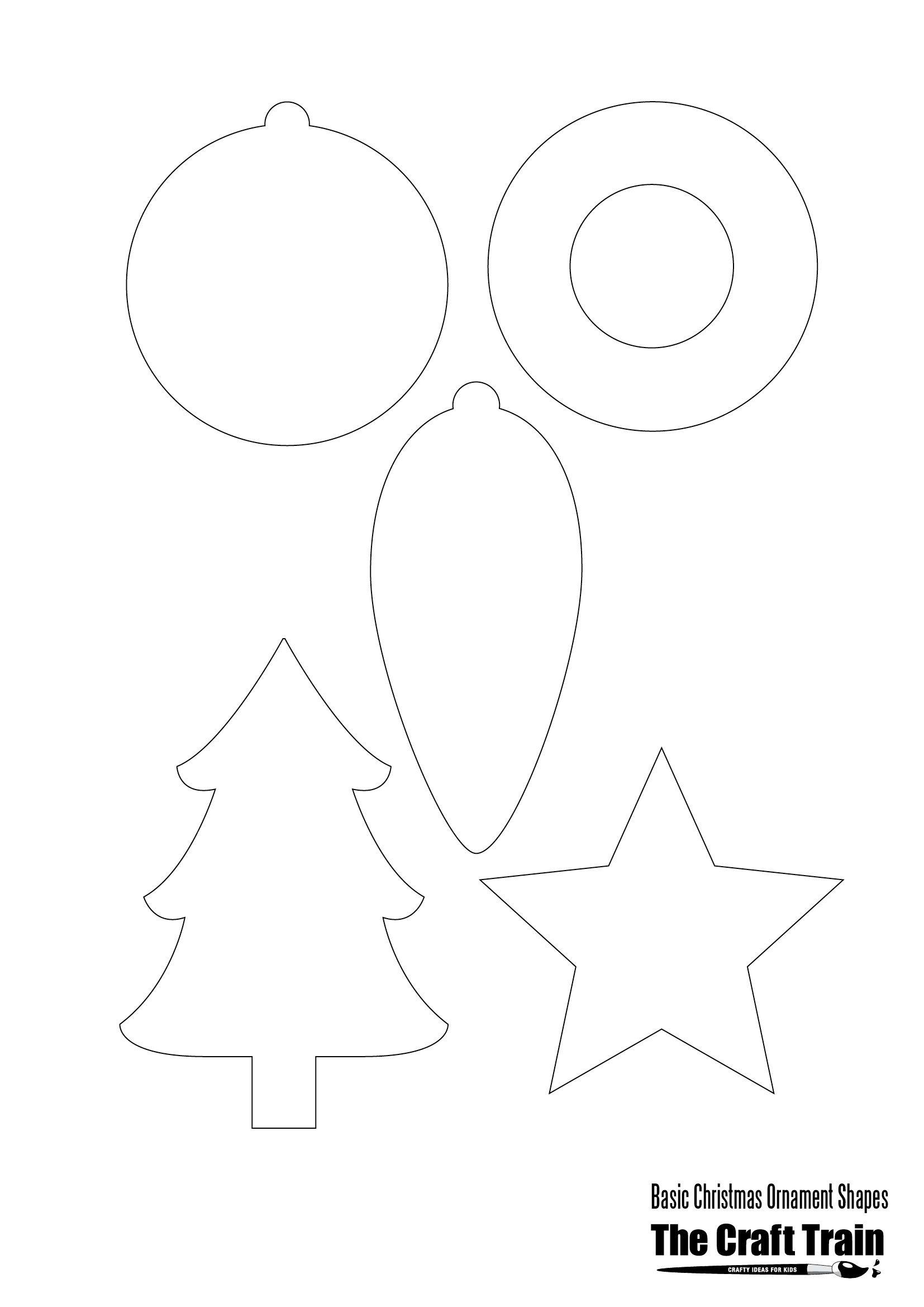 Printable Christmas Shapes | Christmas | Christmas Printables - Free Printable Christmas Cutouts
