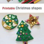 Printable Christmas Shapes | The Craft Train   Free Printable Christmas Cutouts