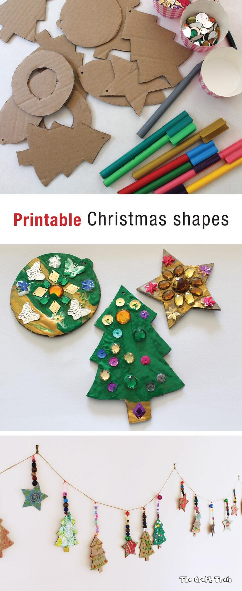 Printable Christmas Shapes | The Craft Train - Free Printable Christmas Cutouts