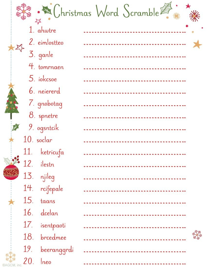 Printable Christmas Word Scramble   Christmas Ideas   Christmas Word - Free Printable Christmas Word Games For Adults