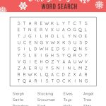 Printable Christmas Word Search   A Fun Holiday Activity For Kids   Free Printable Christmas Word Games For Adults