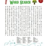 Printable Christmas Word Search For Kids & Adults   Happiness Is   Free Printable Christmas Crossword Puzzles For Adults