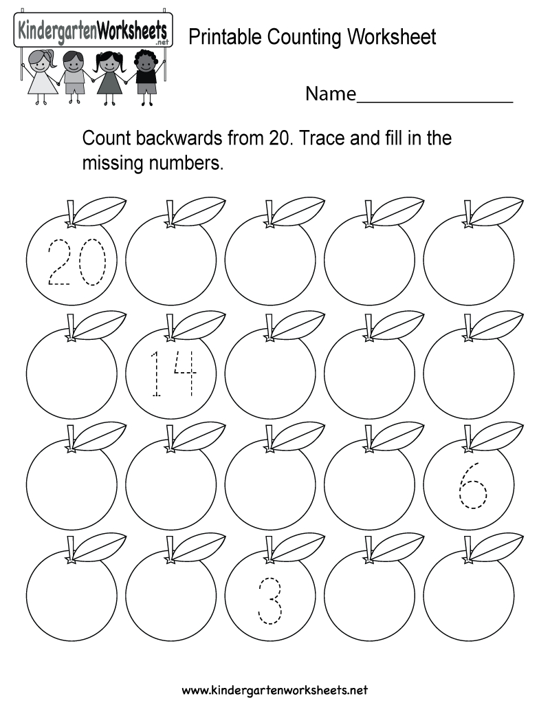 Printable Counting Worksheet - Free Kindergarten Math Worksheet For Kids - Free Printable Number Worksheets For Kindergarten