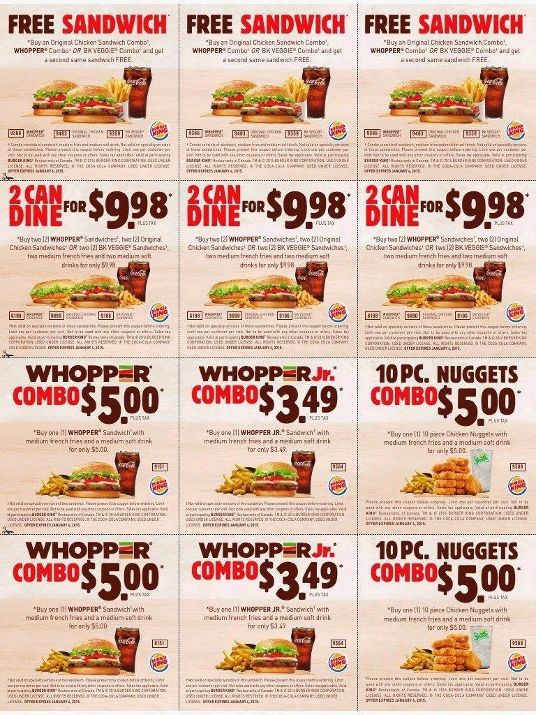 Printable Coupons: Burger King Coupons   Famo   Free Printable - Free Printable Coupons For Food