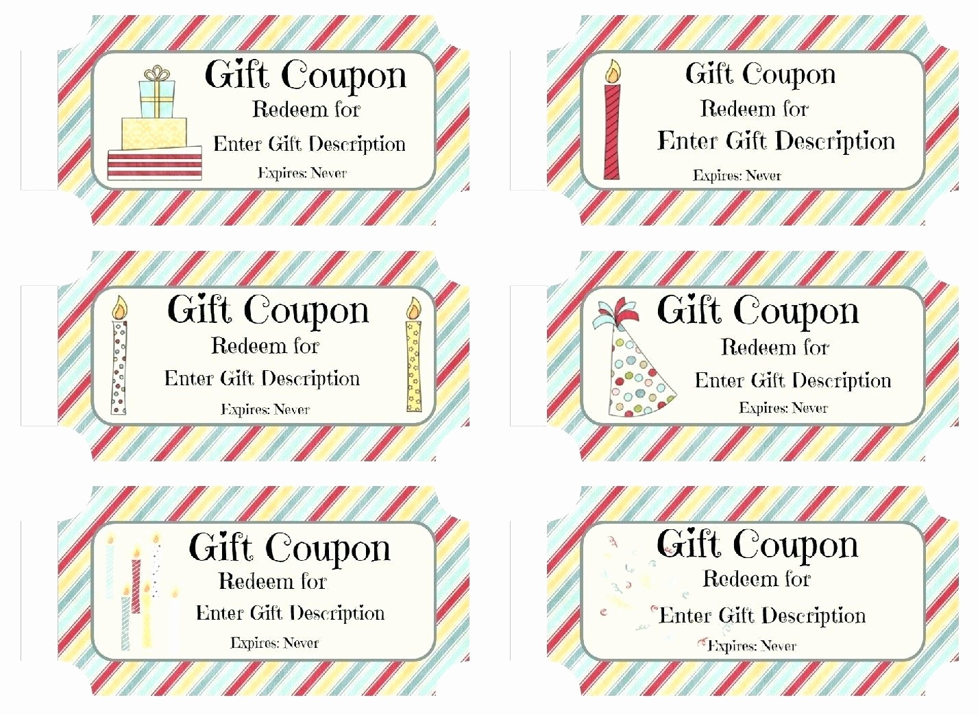 Printable Coupons Free Or Template Birthday Coupons Template – Rtrs - Free Printable Blank Birthday Coupons