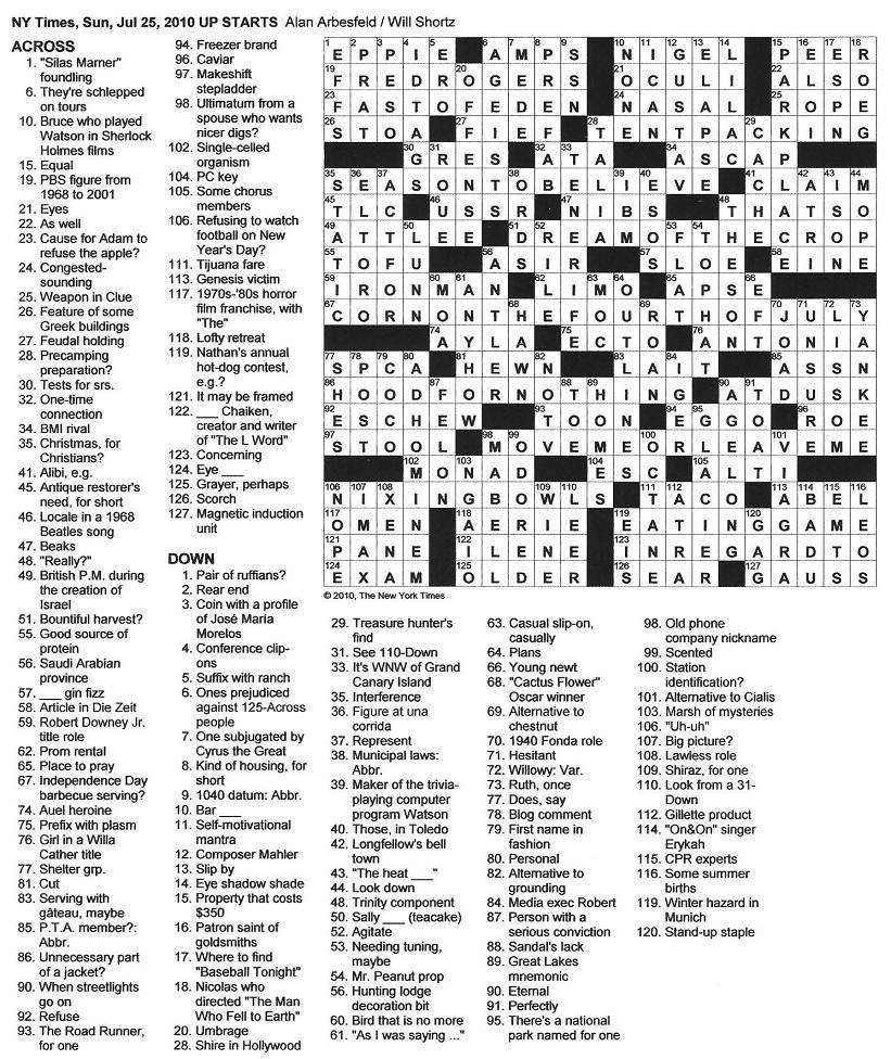 Printable Crossword Dictionary ÀŽfire Sign〠- New York Times Crossword Printable Free