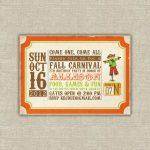 Printable Digital File Harvest Party Invitations, Scarecrow, Pumpkin   Free Printable Fall Festival Invitations