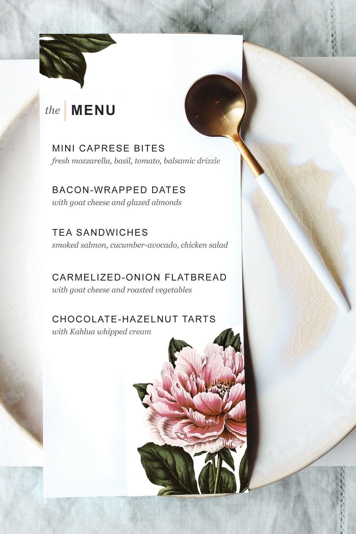 Printable Dinner Party Menu Template   Party Planning   Wedding Menu - Free Printable Restaurant Menu Templates
