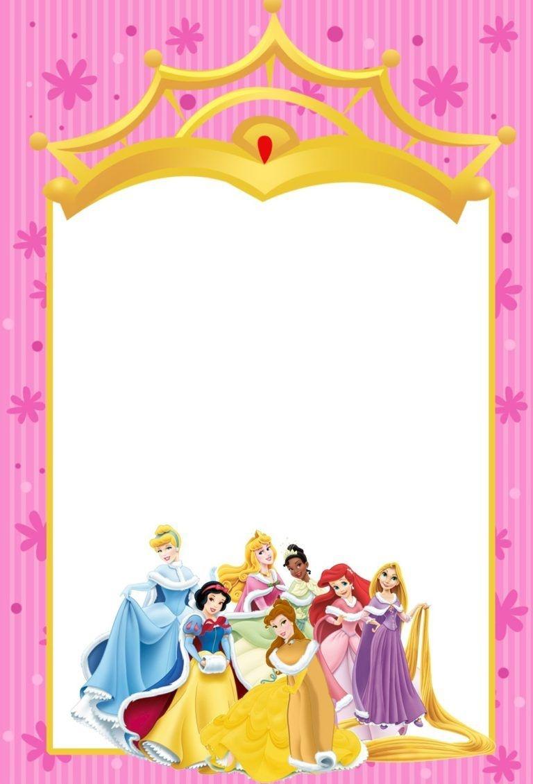 Printable Disney Princesses Invitations   Invitation Maker   Disney - Disney Princess Birthday Invitations Free Printable
