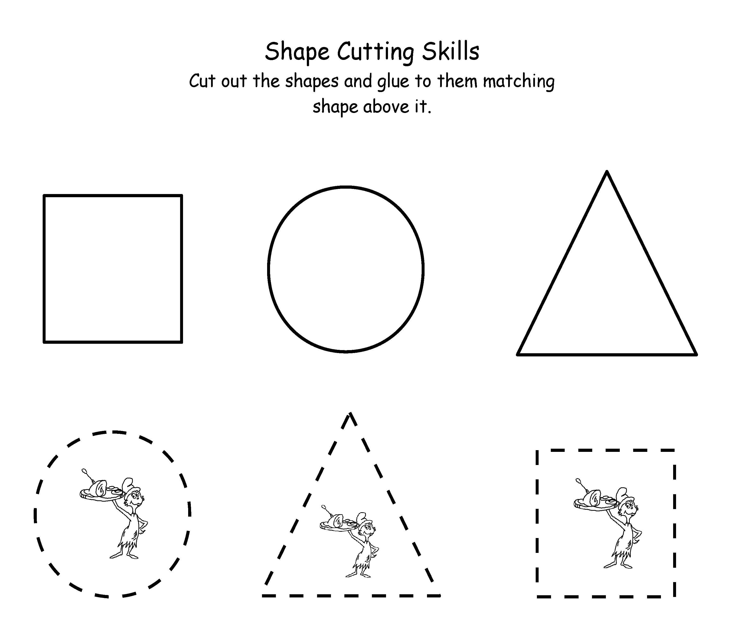 Printable Dr. Seuss Cutting   Maths   Dr Seuss Activities, Scissor - Free Printable Dr Seuss Math Worksheets