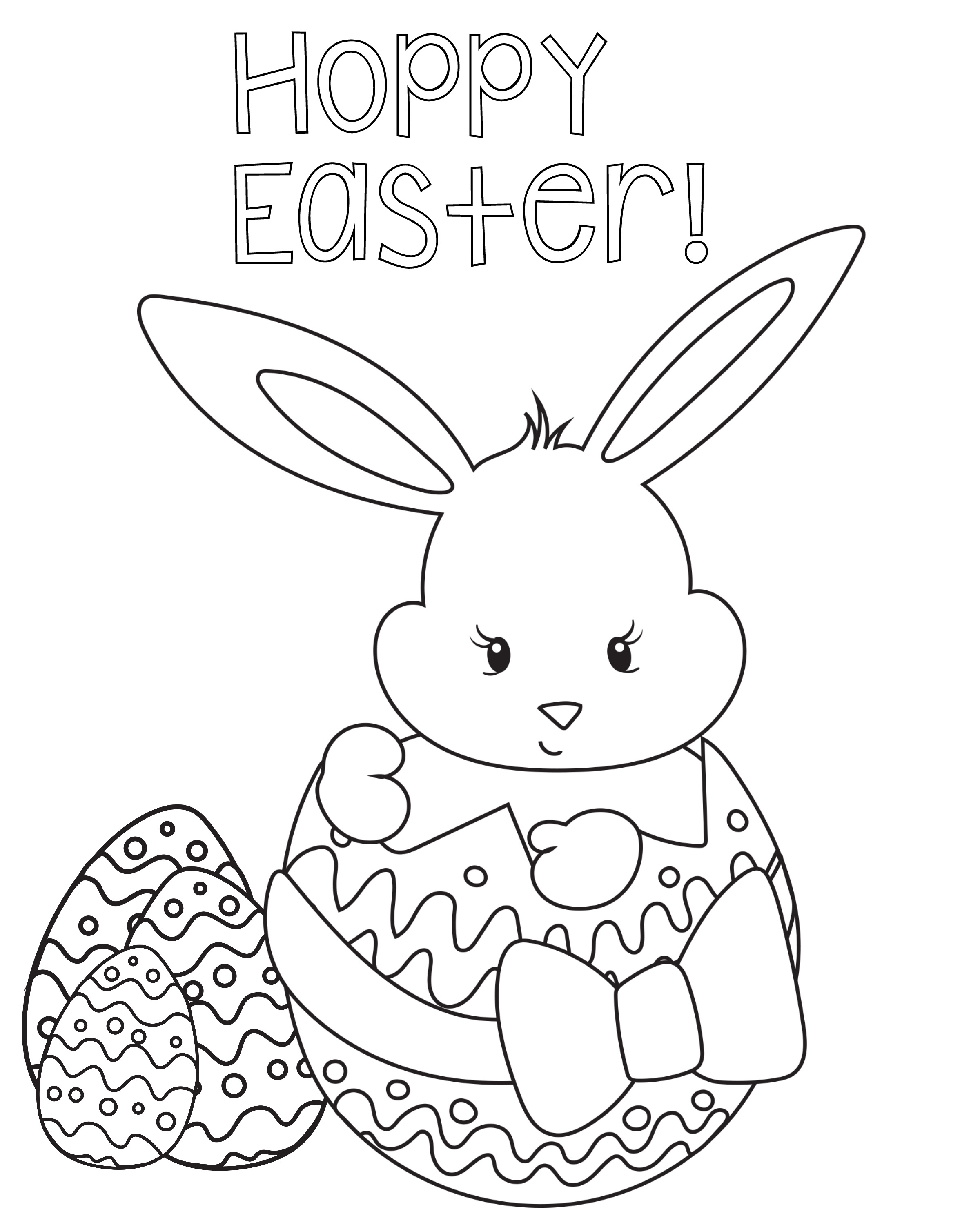Printable Easter Coloring Pages Coloring Pages Download Rabbit - Free Printable Easter Coloring Pictures
