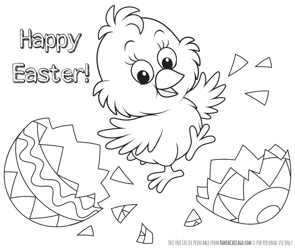 Printable Easter Coloring Pages For Toddlers Free Bunny Sheets Pdf - Free Printable Easter Pages