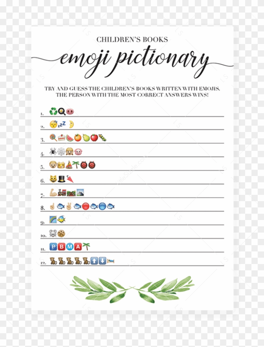 Printable Emoji Pictionary Baby Shower Games Instant - Emoji Baby - Wedding Emoji Pictionary Free Printable