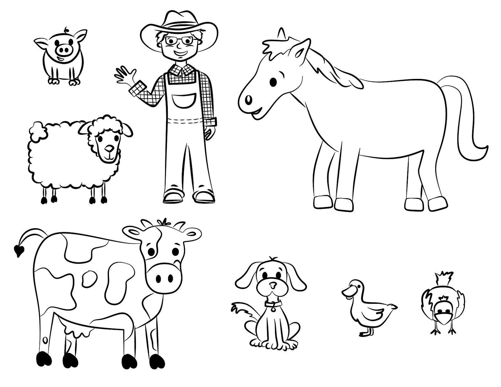Printable Farm Animals Coloring Pages | Presidencycollegekolkata - Free Printable Farm Animal Pictures