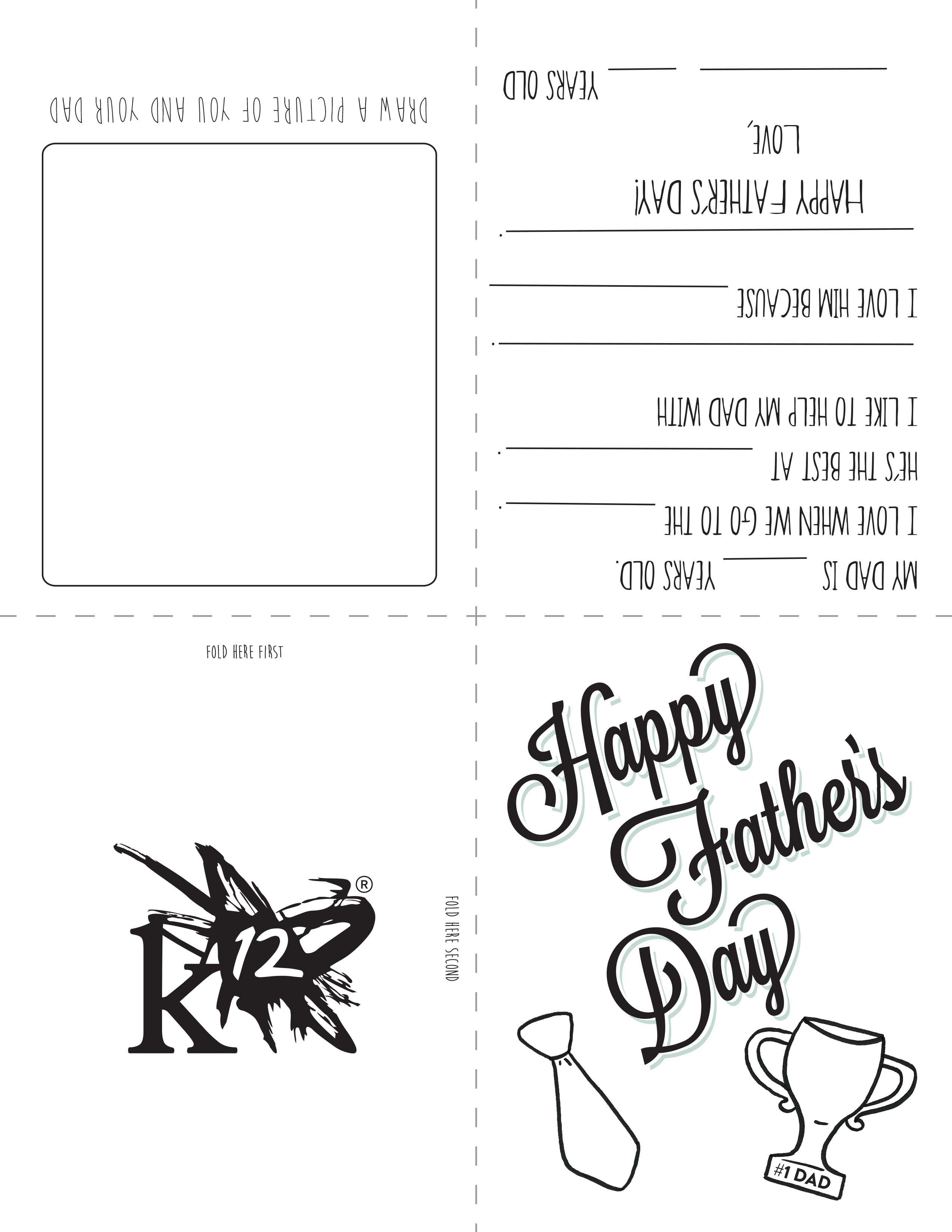 Printable Father's Day Card For Kids To Make | Father's Day | Diy - Free Happy Fathers Day Cards Printable