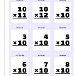 Printable Flash Cards   Free Printable Multiplication Flash Cards 0 10