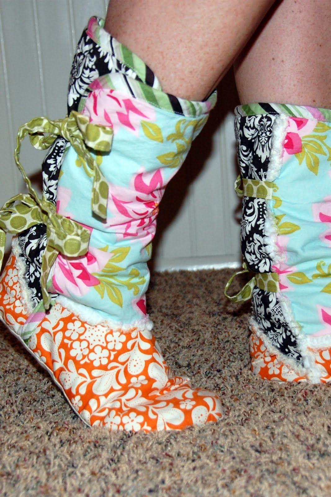 Printable Fleece Slipper Pattern   Fleece Moccasin Slipper Boots - Free Printable Fleece Sock Pattern