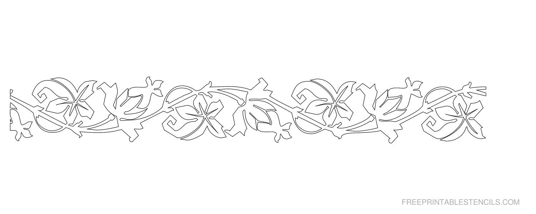Printable Floral Border Stencils   Free Printable Stencils With - Free Printable Stencils