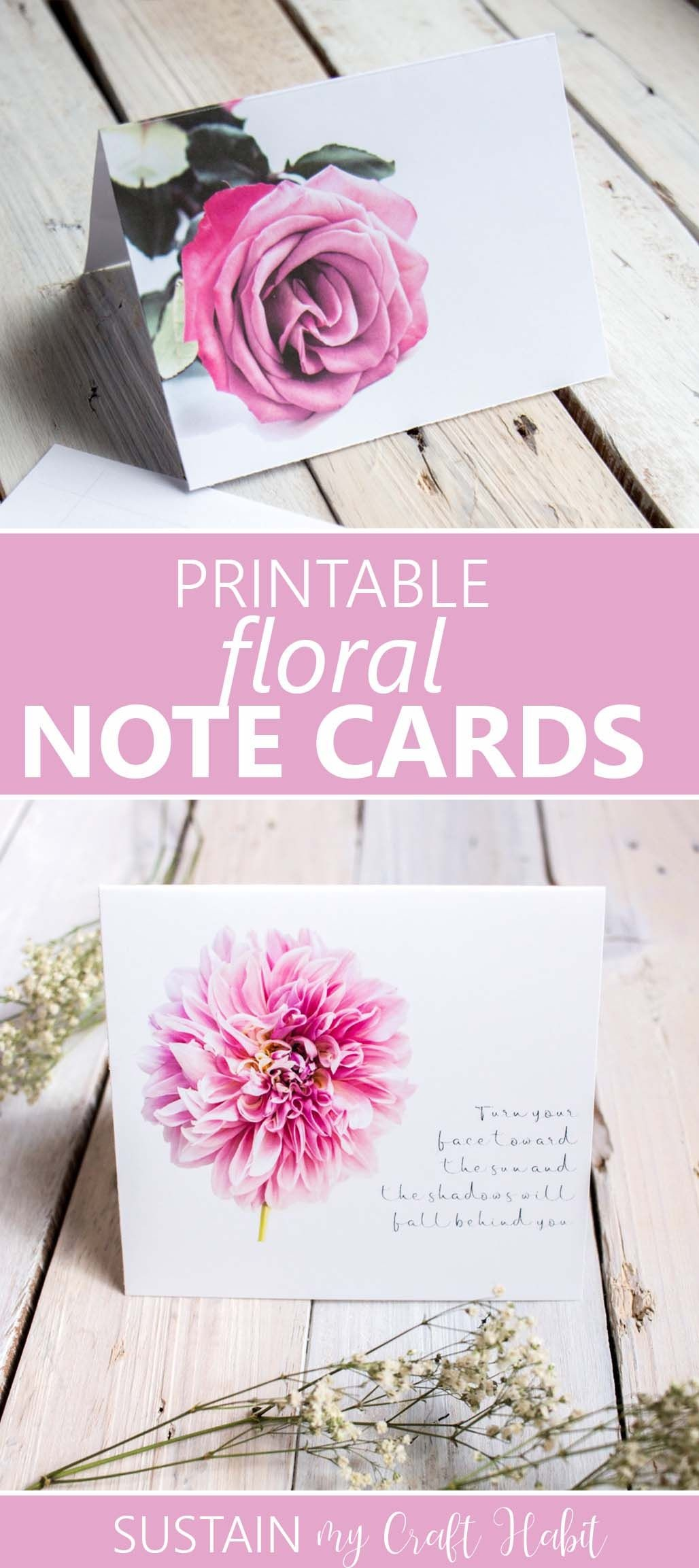 Printable Floral Note Cards | Free Printables  | Pinterest - Free Printable Special Occasion Cards