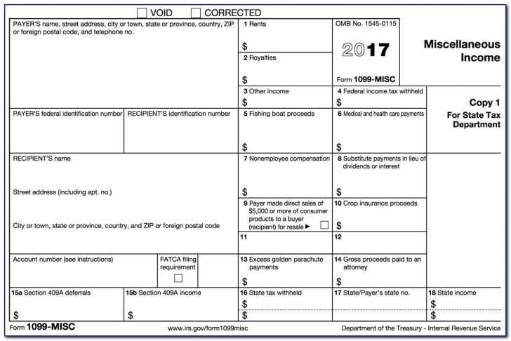 Free Printable 1099 Form 2016
