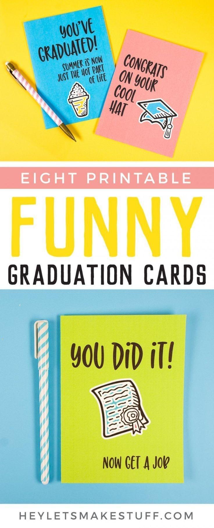 Printable Funny Graduation Cards | Freebies-Printables And Downloads - Graduation Cards Free Printable Funny