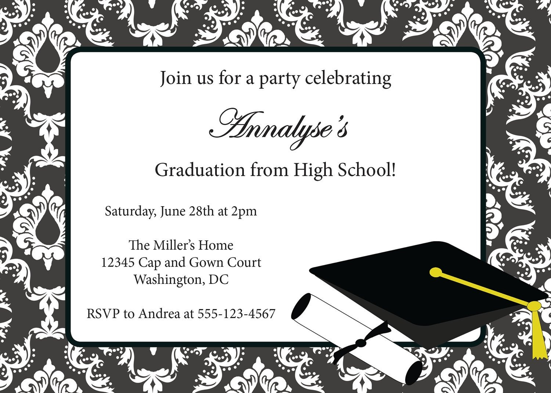 Printable Graduation Invitation Templates. Browse The Large - Free Printable Graduation Invitations 2014
