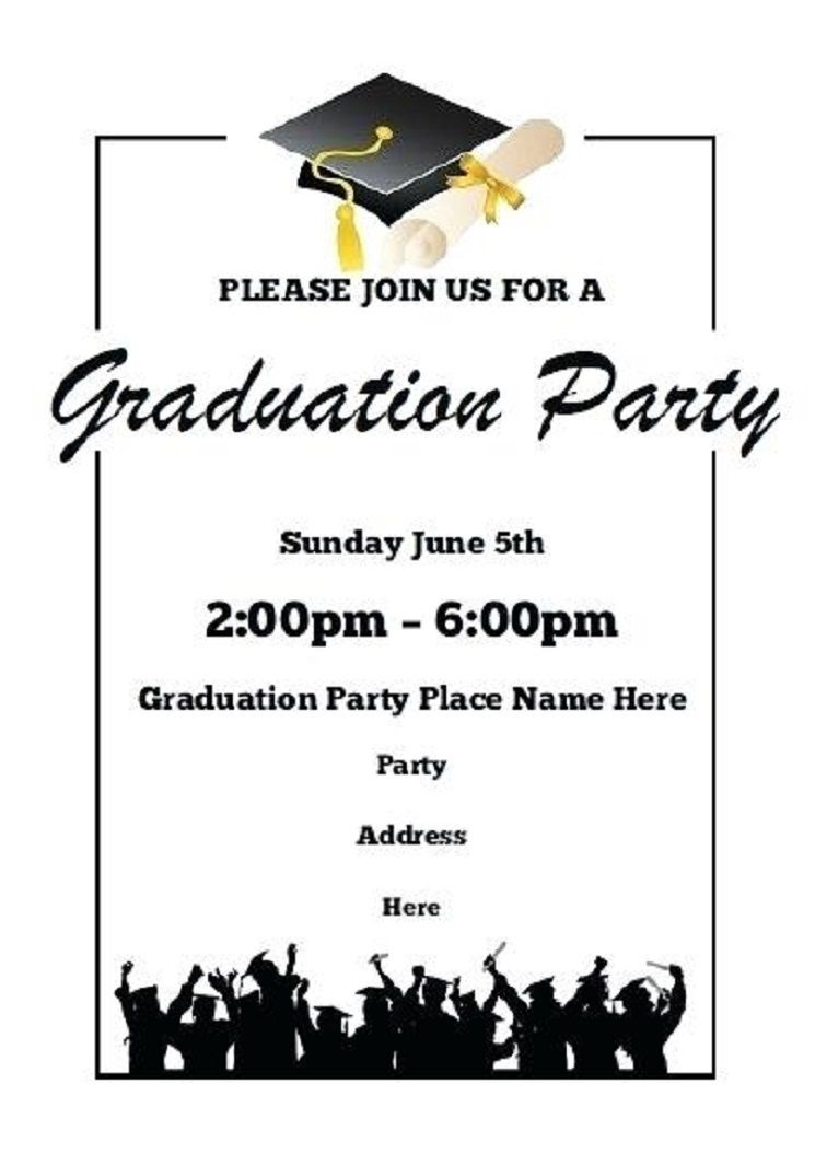 Printable Graduation Party Invitations | Party Invitation Card - Free Online Printable Graduation Invitation Maker