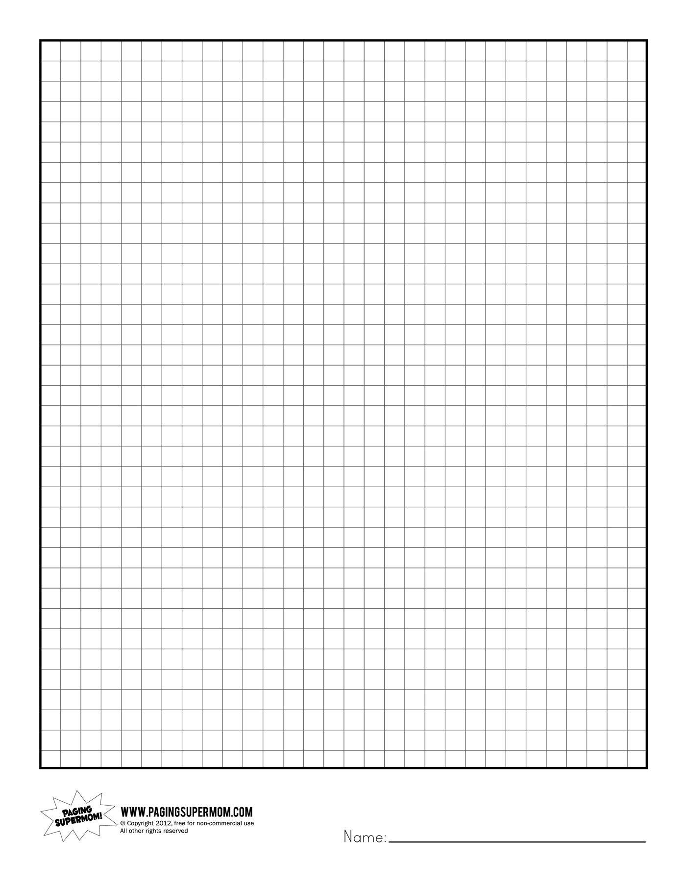 Printable Graph Paper   Healthy Eating   Grid Paper Printable - Free Printable Grid Paper