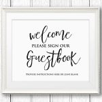 Printable Guest Book   Kaza.psstech.co   Please Sign Our Guestbook Free Printable