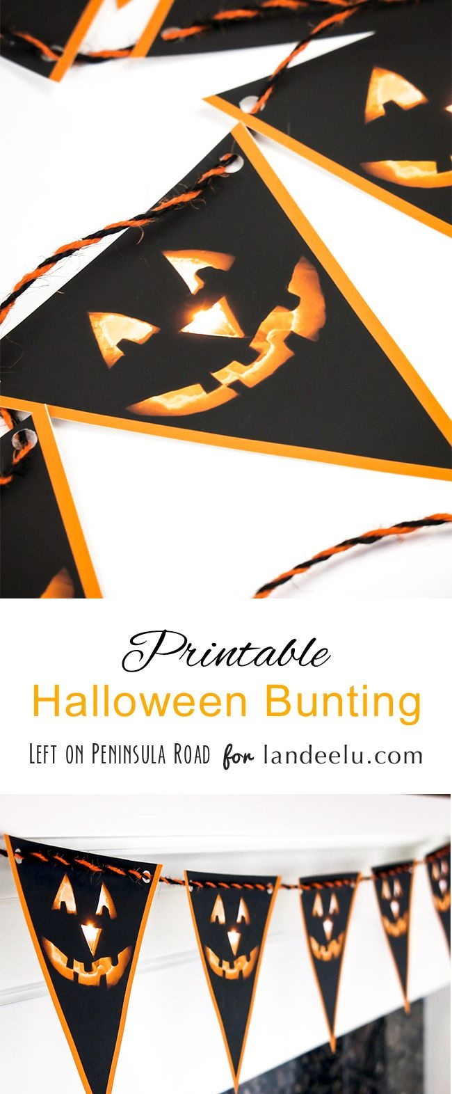 "Printable Halloween Bunting | *the ""pinspiration"" Place 