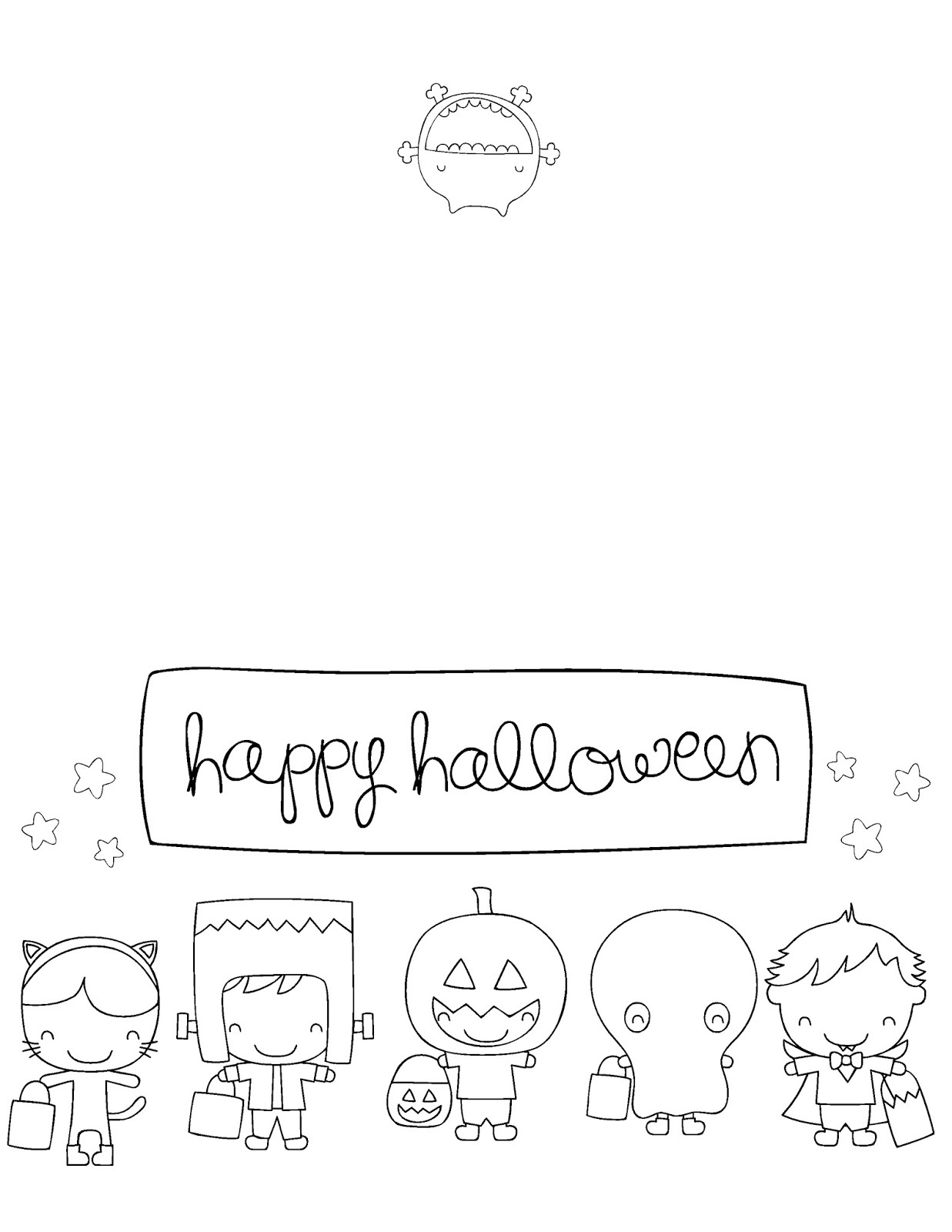 Printable Halloween Cards To Color - Smipvcu - Printable Halloween Cards To Color For Free