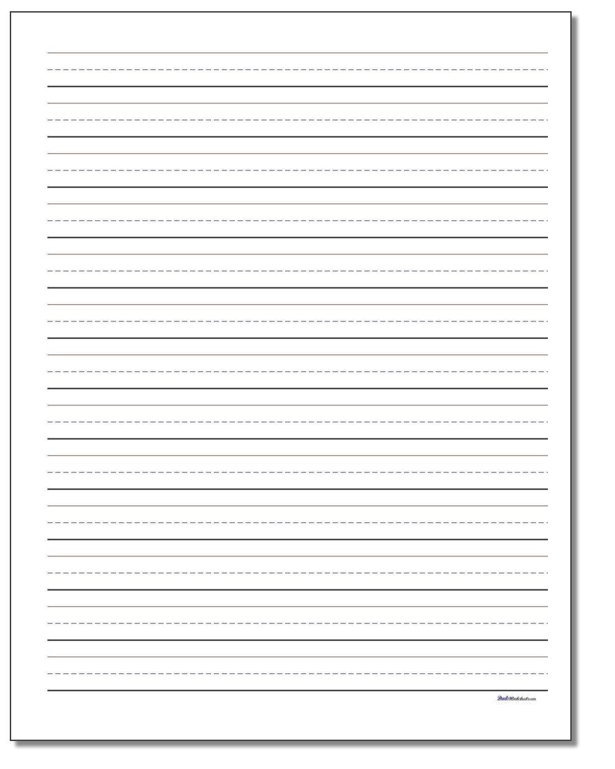 Printable Handwriting Paper - Free Printable Handwriting Paper