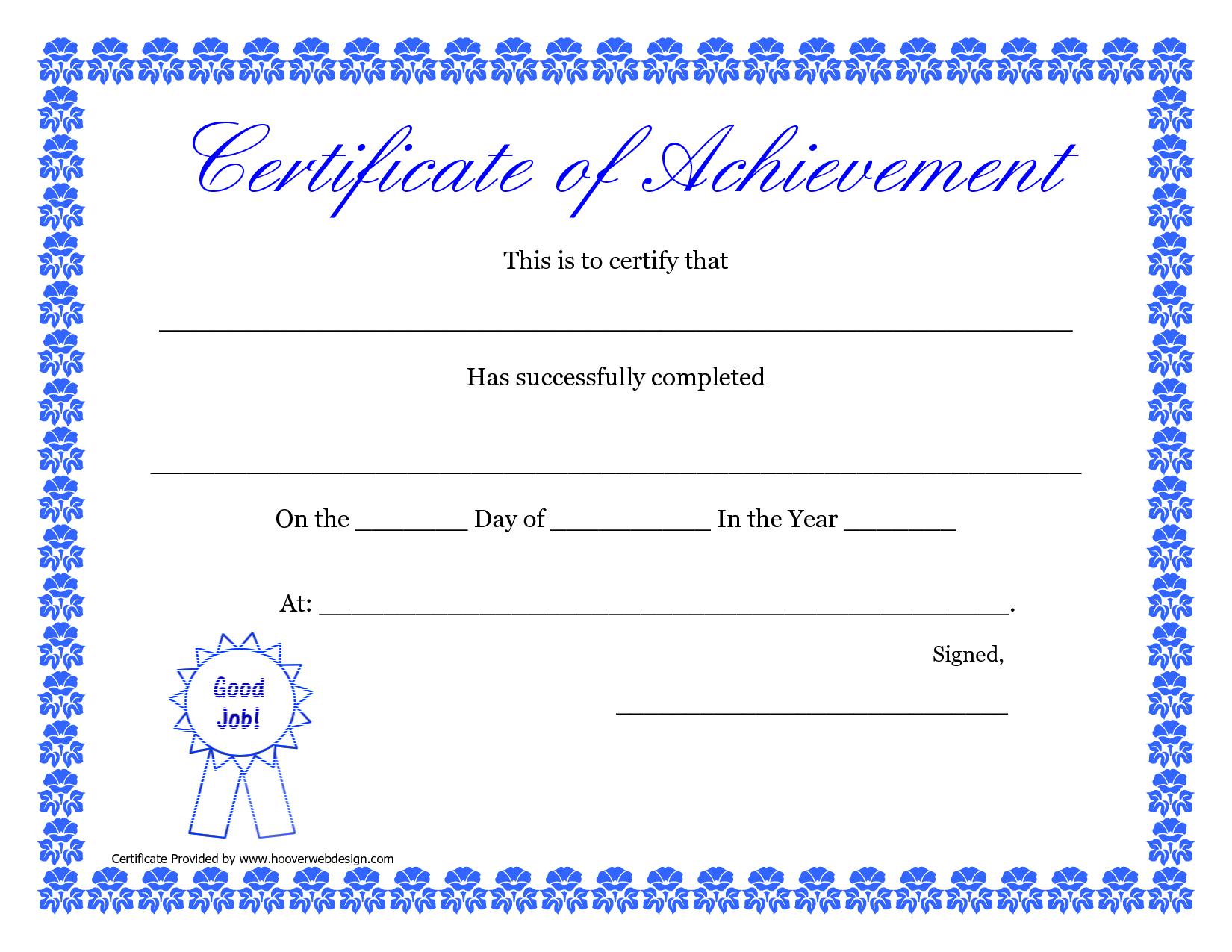 Printable Hard Work Certificates Kids | Printable Certificate Of - Free Printable Certificates Of Achievement