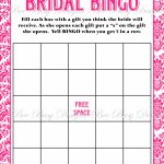 Printable Hot Pink Damask Bridal Shower Bingo Game Instant Download   Free Printable Bridal Shower Blank Bingo Games