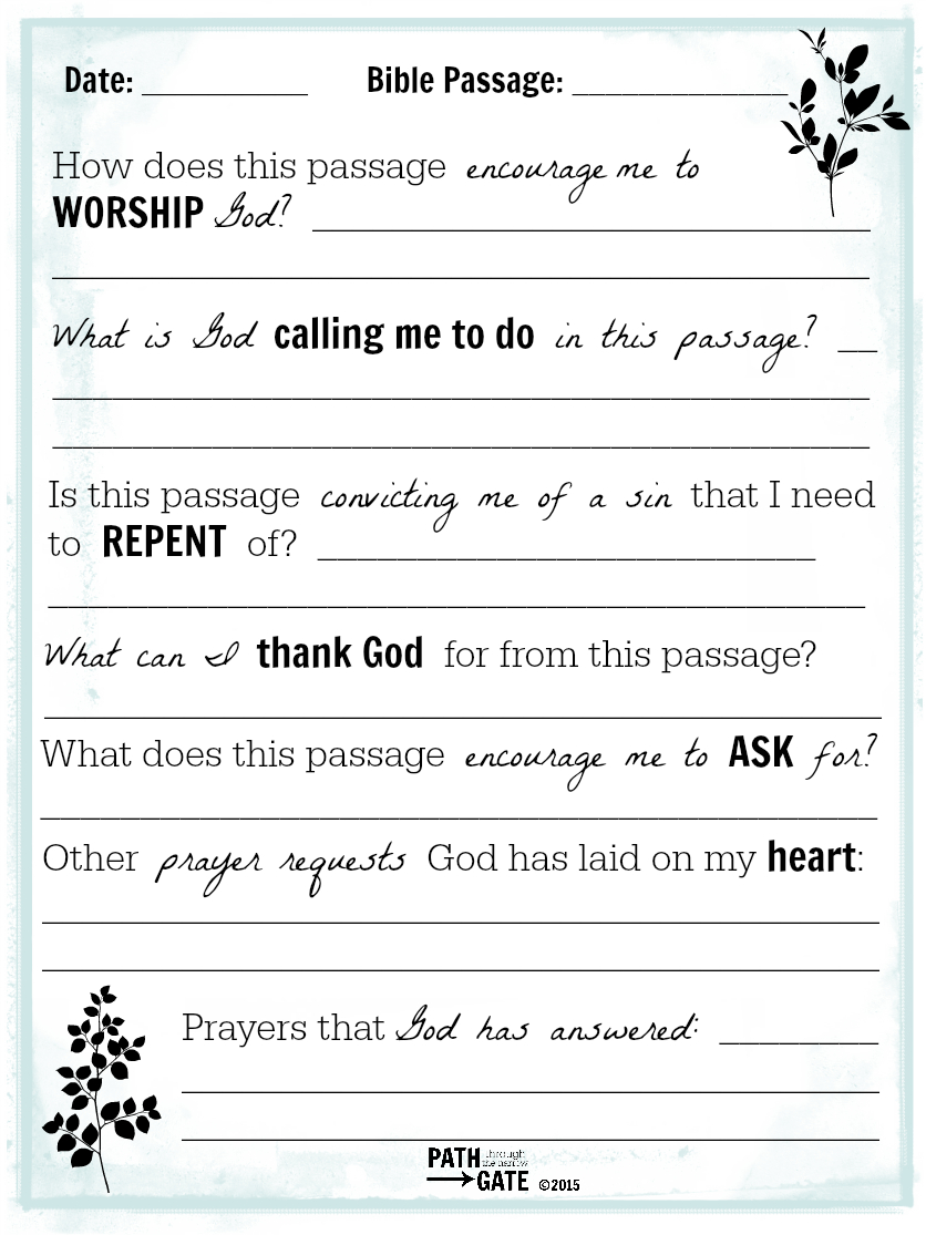 Printable Journal Pages About Bible Reading And Prayers | Scripture - Free Printable Bible Study Journal Pages