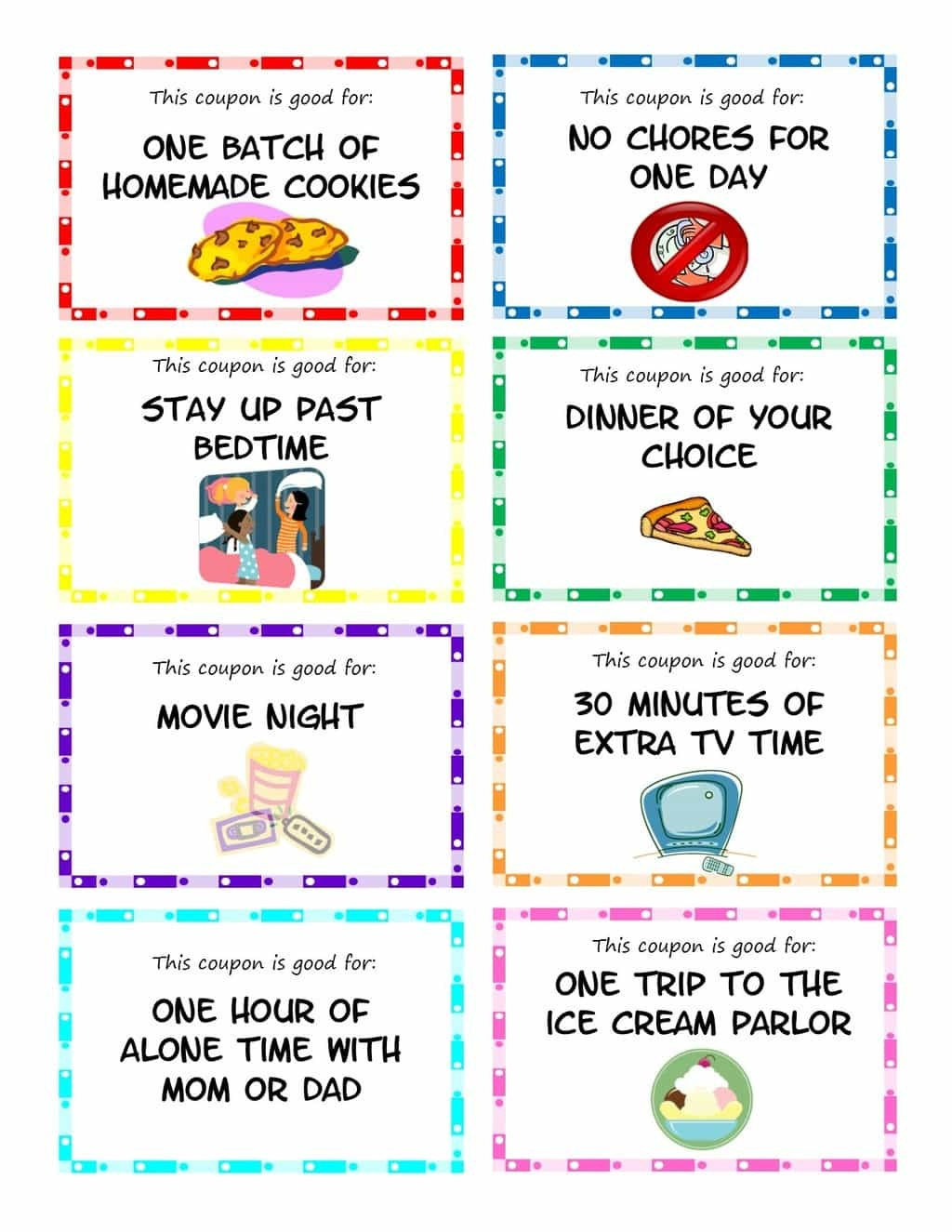 Printable Kid Coupons - Free Printable Coupon Templates