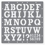 Printable Letters Stencil Of Alphabets, Numbers And Symbols   Free Printable Letters And Numbers