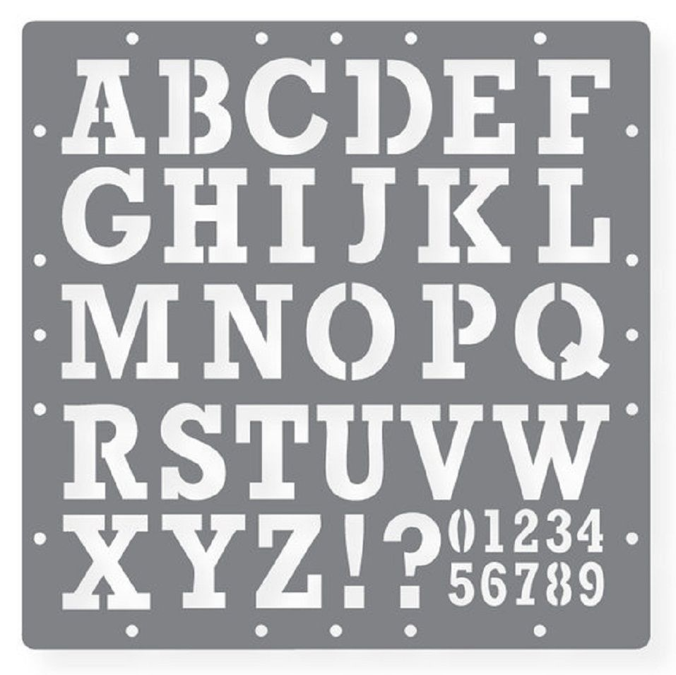 Printable Letters Stencil Of Alphabets, Numbers And Symbols - Free Printable Letters And Numbers