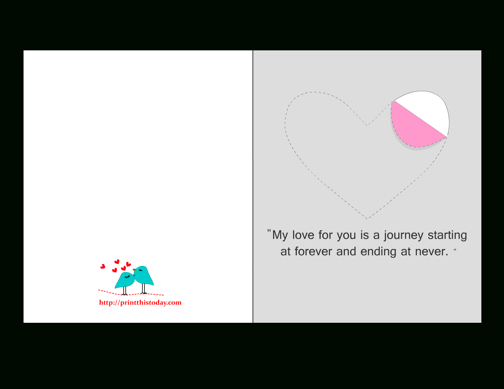 Printable Love Cards With Cute, Romantic And Thoughtful Quotes - Free Printable Love Cards