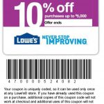 Printable Lowes Coupon 20% Off &10 Off Codes December 2016   Lowes Coupon Printable Free