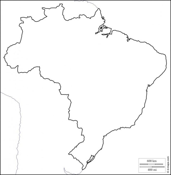 Free Printable Map Of Brazil