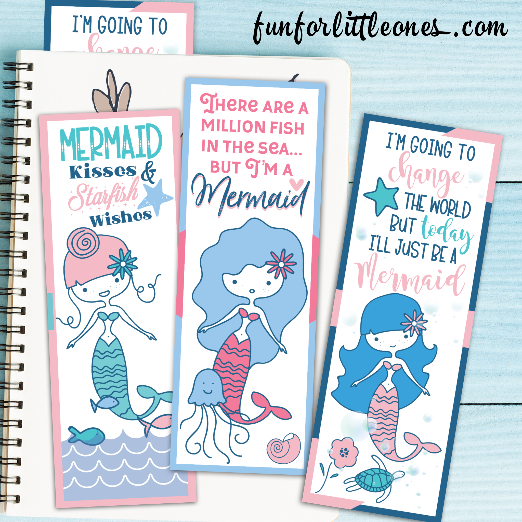Printable Mermaid Bookmarks Set - Fun For Little Ones - Anime Bookmarks Printable For Free