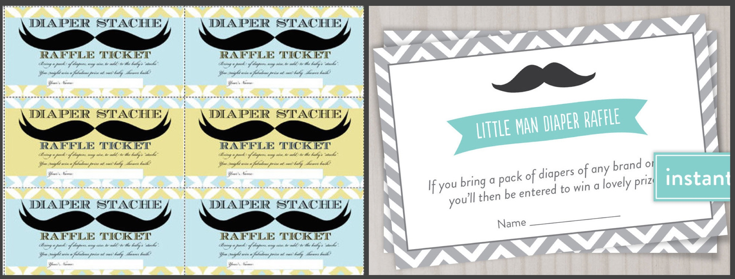 Printable Mustache Bash Game | Baby Shower Ideas | Partyideapros - Name That Mustache Game Printable Free
