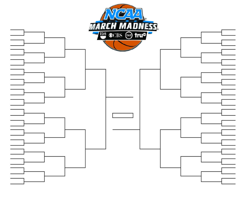 Printable Ncaa Men's D1 Bracket For 2019 March Madness Tournament - Free Printable Brackets